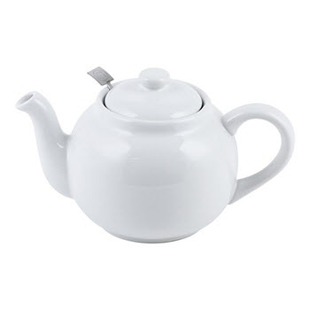 Ambrosia Kira Tea Pot with Infuser White 1L