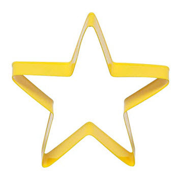 Soffritto Professional Bakeware 8cm Cookie Cutter Yellow Star