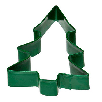 Soffritto Professional Bakeware 8cm Cookie Cutter Green Christmas Tree