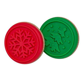 Soffritto Professional Bakeware 6.5cm Cookie Stamp Tree or Snowflake