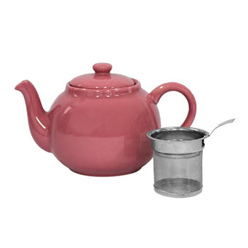 Ambrosia Pale Pink Kira Teapot with Infuser 1L