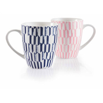 Ambrosia Set of 2 Ashle 320ml Grid Mug