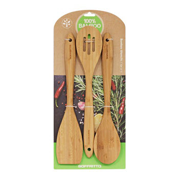 Soffritto Set of 3 Bamboo Utensils