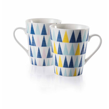 Ambrosia Ari Triangle 320ml Mug Set of 2