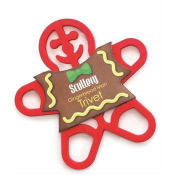 Scullery Be Merry Gingerbread Trivet