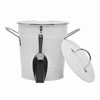 Ambrosia St Tropez 20cm Ice Bucket with Lid & Turner