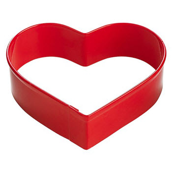 Soffritto Professional Bake Heart Cookie Cutter Red