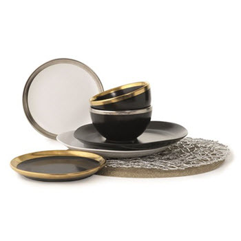 Alex Liddy Bistro Chic 20cm Plate Black/Gold