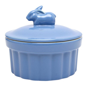 Ambrosia Meadow 15 x 7cm Round Baker With Lid Blue