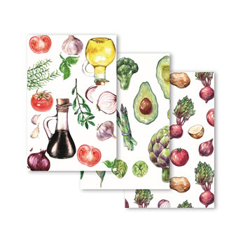 Ambrosia Vege Patch Set of 3 Tea Towel