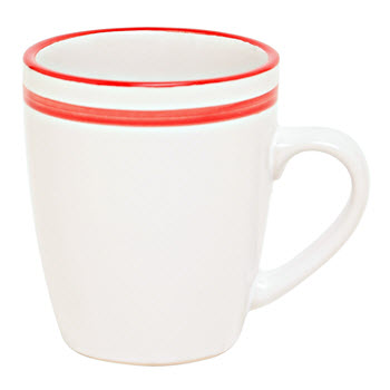Ambrosia Remi 355ml Stripe Mug Ruby