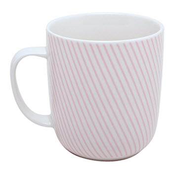 Ambrosia Pia Stripes 400ml Mug Pink