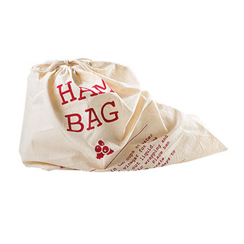 Ambrosia Jingle Bells 45cm Calico Ham Bag