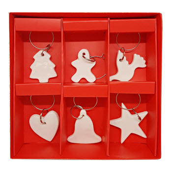 Ambrosia Festive Medley Set of 6 Wine Charm