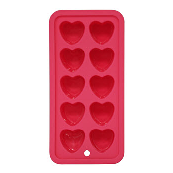 Cellar Fruit Punch Ice Mould Heart Pink