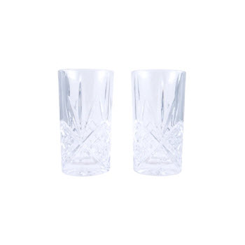 Cellar Luxe Pressed Hi Ball Glass Set of 2