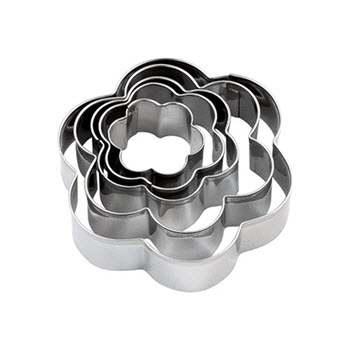 Soffritto Professional Bake Flower Cookie Cutter Set of 5