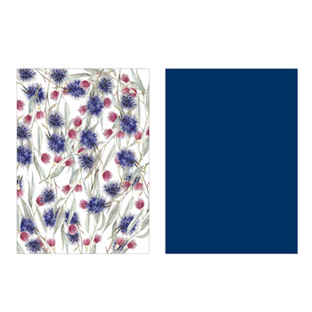 Ambrosia Flora Tea Towel Set of 2 Blue