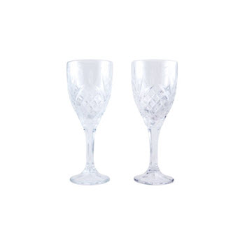 Cellar Luxe Moulded Wine Glass Set of 2