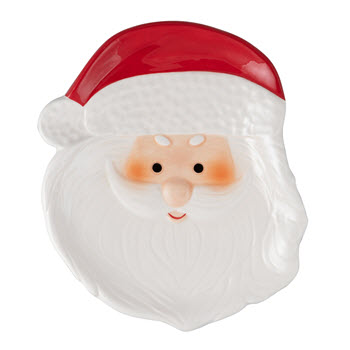 Ambrosia Jingle Bells Santa Plate 21CM