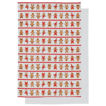 Ambrosia Jingle Bells Ginger Teatowel Set of 2