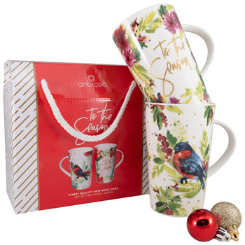Ambrosia Tis the Season Mugs Set/2 Motif 400ML Gift Box