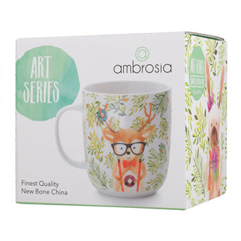 Ambrosia Art Series Mug 400ML Leafy