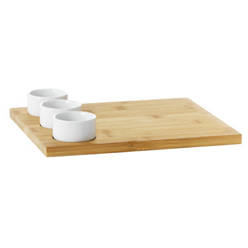 Ambrosia Karira Board with 3 x Bowls