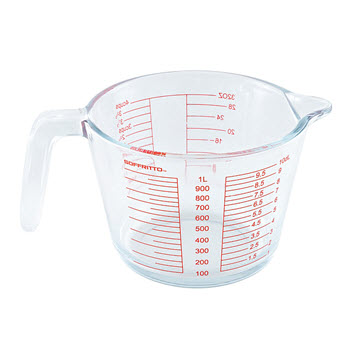 Soffritto Pure Glass Measuring Jug 1L