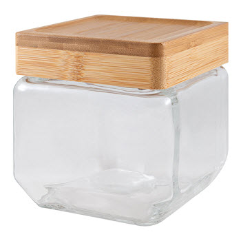 Scullery Bamboo & Glass Square Canister 750ml