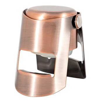 Cellar Magnum Stainless Steel Champagne Resealer Rose Gold