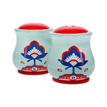 Ambrosia Aya Ceramic Salt & Pepper Shaker Set 8 x 7.5cm Floral
