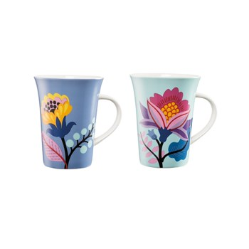 Ambrosia Aster New Bone China 2 Piece Mug Set 350ml Floral