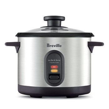 Breville Rice Master Brushed Stainless Steel 7 Cup Rice Cooker