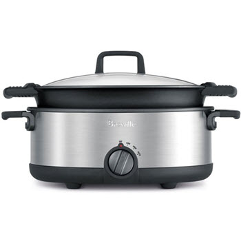 Breville Flavour Maker Slow Cooker with Easy Sear Pan 5L