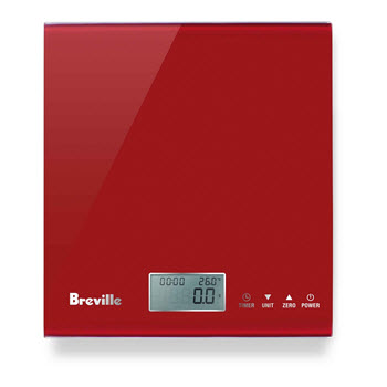 Breville The Multi Measure Kitchen Scales Cranberry