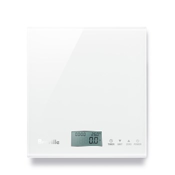 Breville Electronic Glass Kitchen Scale White
