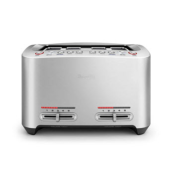 Breville The Smart Stainless Steel 4 Slice Toaster