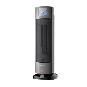 Kambrook Ceramic Tower Heater with LCD Screen, Oscillation, Timer & Remote