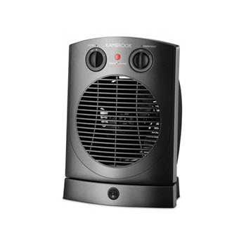 Kambrook Electric Upright Fan Heater with 2 Heat Settings & Thermostat