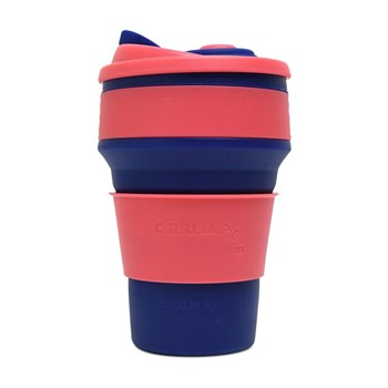 CRUMPLE Geisha & Kyoto Collapsible Reusable Eco Coffee Cup 350ml  Blue & Pink