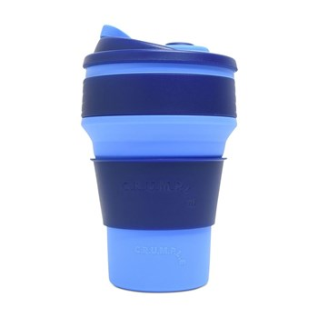 CRUMPLE Eagle & Zion Collapsible Reusable Eco Coffee Cup 350ml Blue