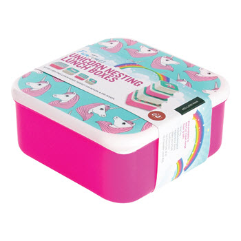 IS Gift Fun Times Nesting Lunch Boxes Unicorns