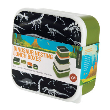 IS Gift Fun Times Nesting Lunch Boxes Dinosaurs Set of 4