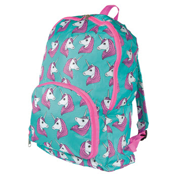 IS Gift Fun Times Foldable Backpack Unicorns