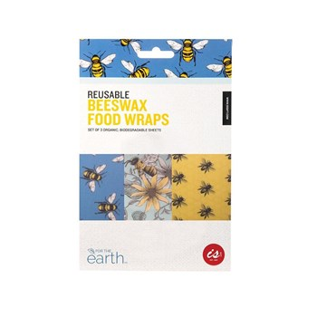 IS Gift Reusable Beeswax Food Wraps Set of 3