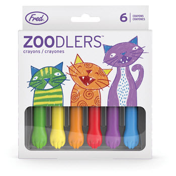 Fred Zoodlers Cat Paw Crayons