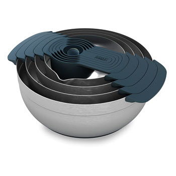 Joseph Joseph 100 Collection Nest 9-Piece Stainless Steel Mixing Bowl Set