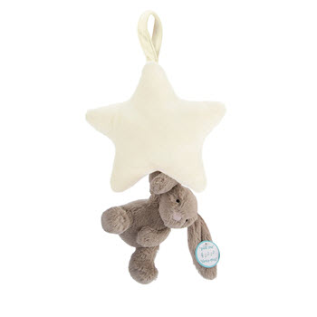 Jellycat Bashful Star Musical Pull Toy Beige