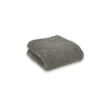 Apartmento Diamond Fleece Blanket Grey Single